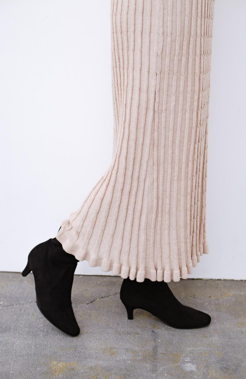haco! デニムにもスカートにも似合う!すぽっと履けてスタイルアップが叶う女っぽフェイクスエードブーツ <ブラック>の商品写真7