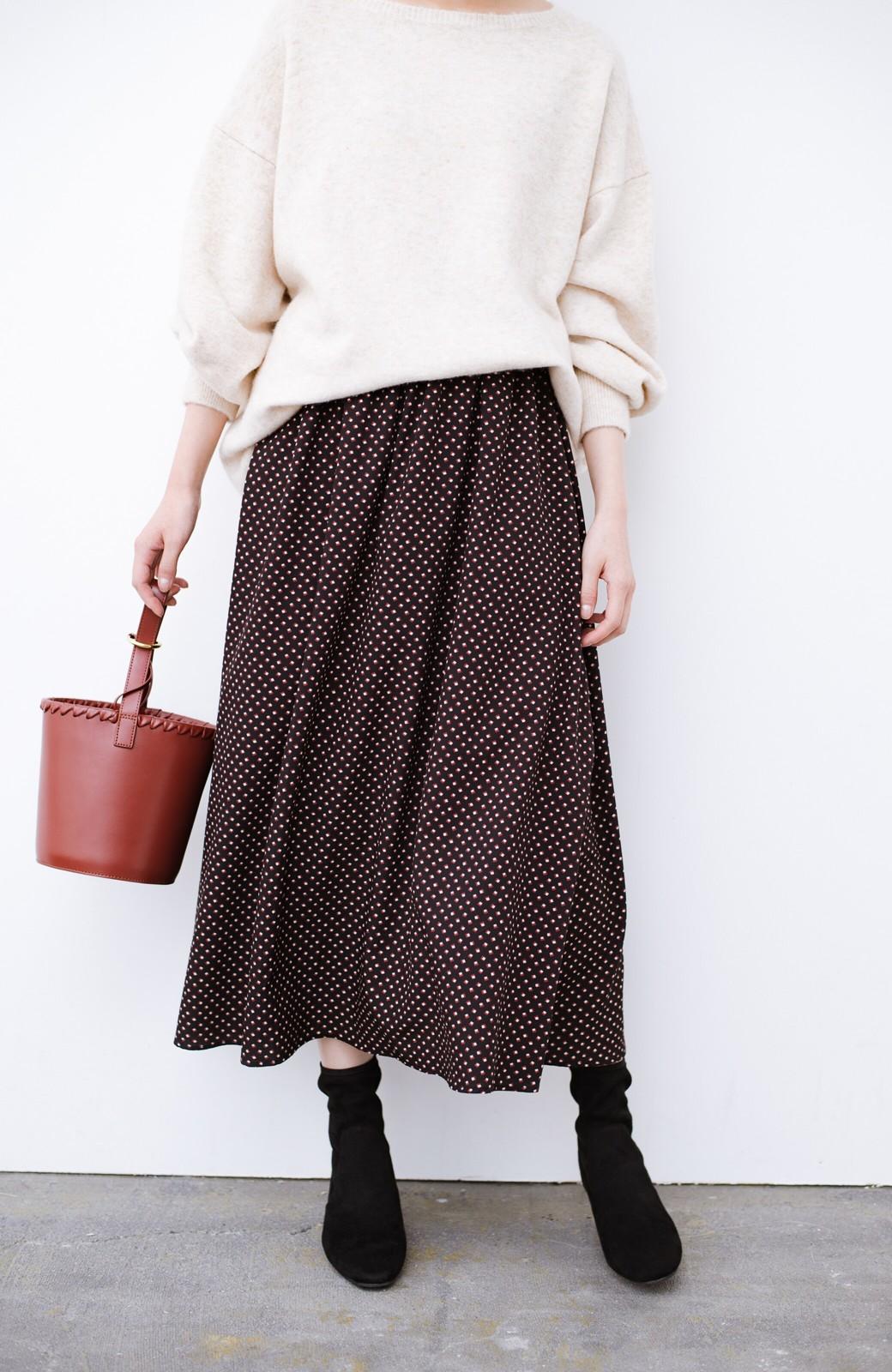 haco! デニムにもスカートにも似合う!すぽっと履けてスタイルアップが叶う女っぽフェイクスエードブーツ <ブラック>の商品写真8