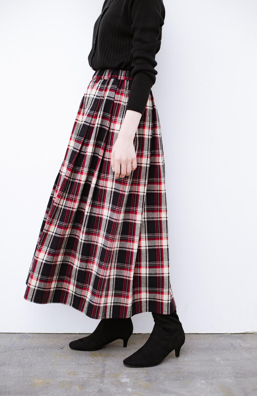 haco! デニムにもスカートにも似合う!すぽっと履けてスタイルアップが叶う女っぽフェイクスエードブーツ <ブラック>の商品写真10