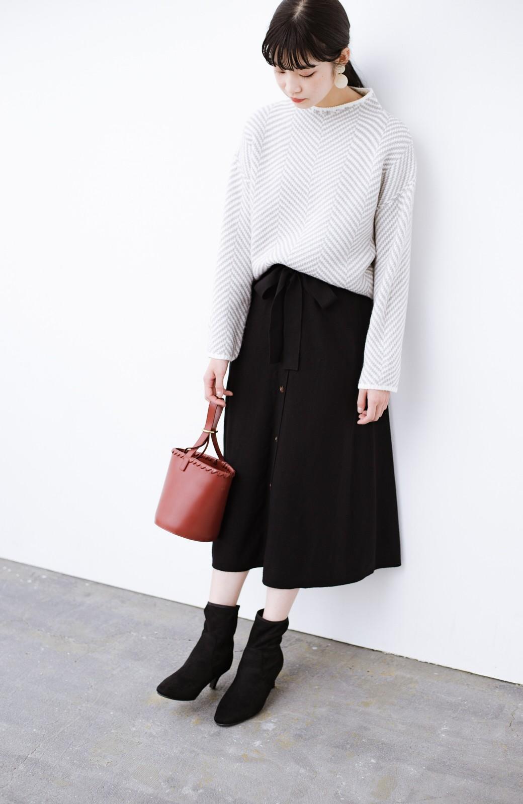 haco! デニムにもスカートにも似合う!すぽっと履けてスタイルアップが叶う女っぽフェイクスエードブーツ <ブラック>の商品写真24