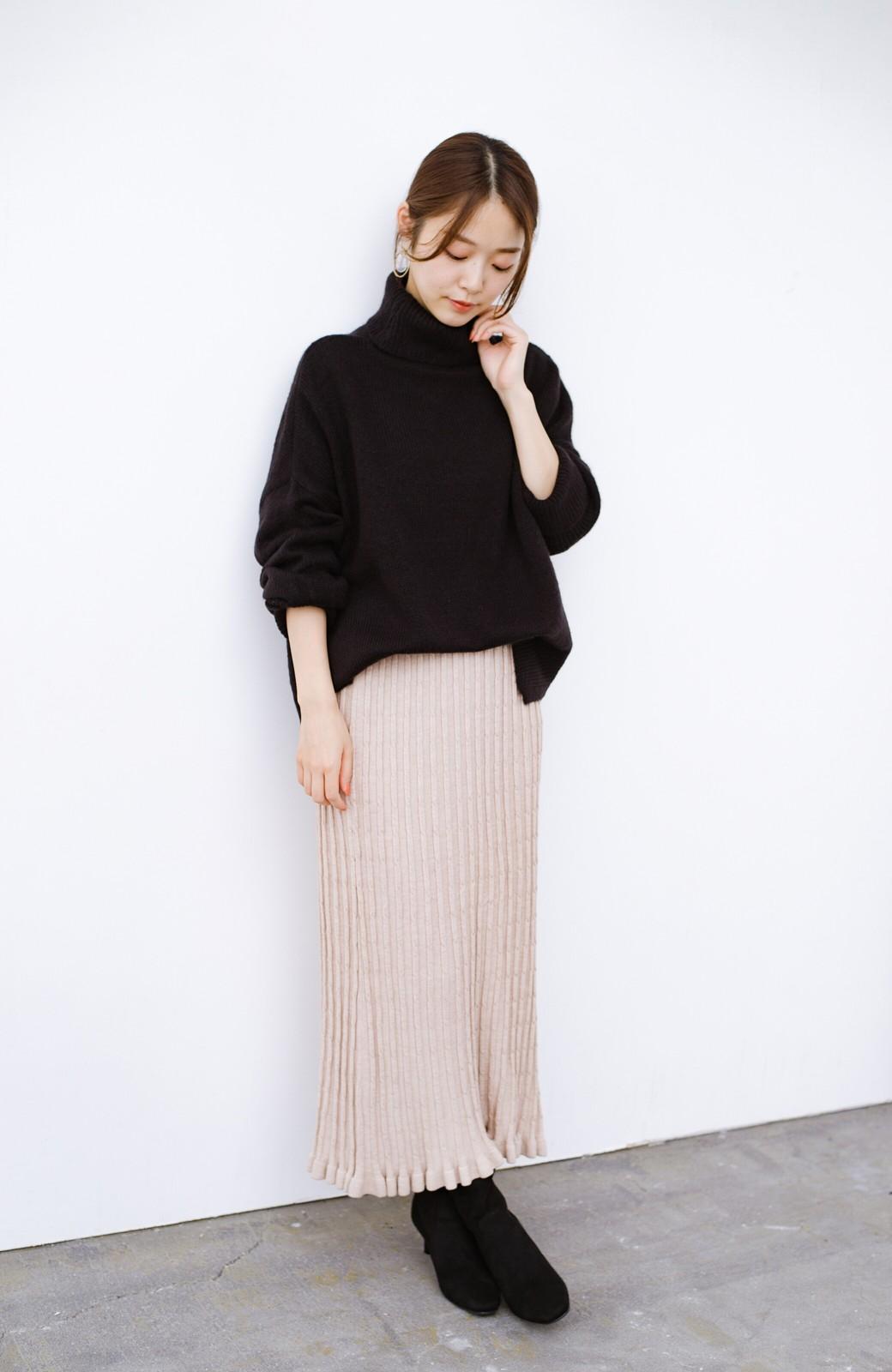 haco! デニムにもスカートにも似合う!すぽっと履けてスタイルアップが叶う女っぽフェイクスエードブーツ <ブラック>の商品写真12