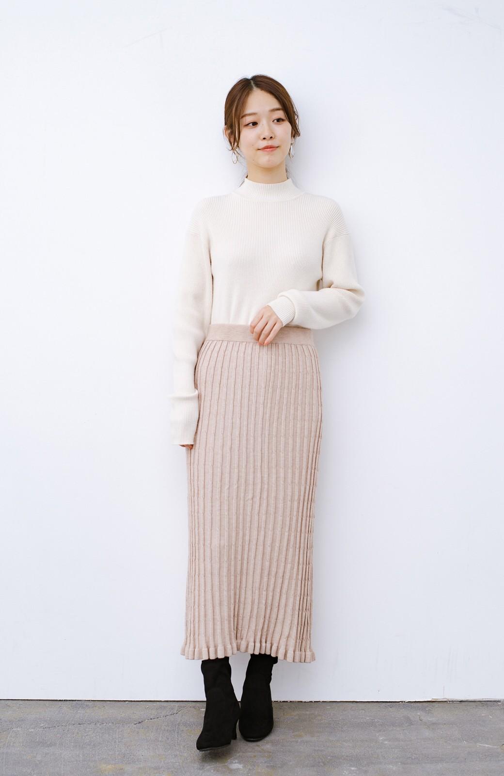 haco! デニムにもスカートにも似合う!すぽっと履けてスタイルアップが叶う女っぽフェイクスエードブーツ <ブラック>の商品写真11