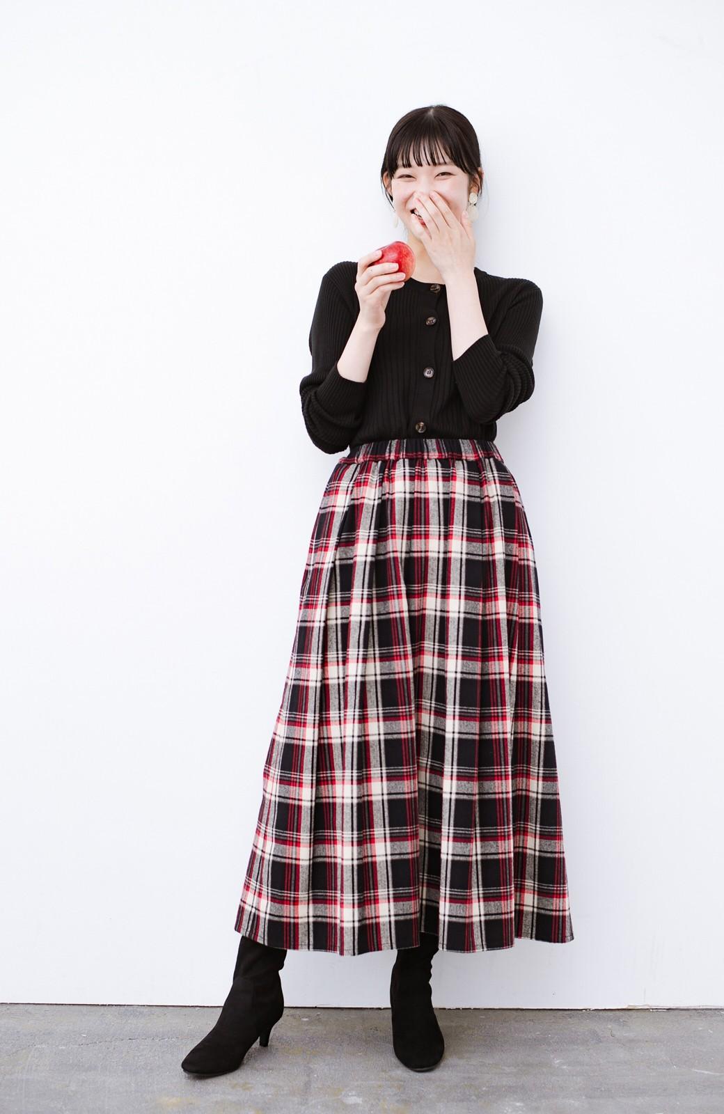 haco! デニムにもスカートにも似合う!すぽっと履けてスタイルアップが叶う女っぽフェイクスエードブーツ <ブラック>の商品写真13