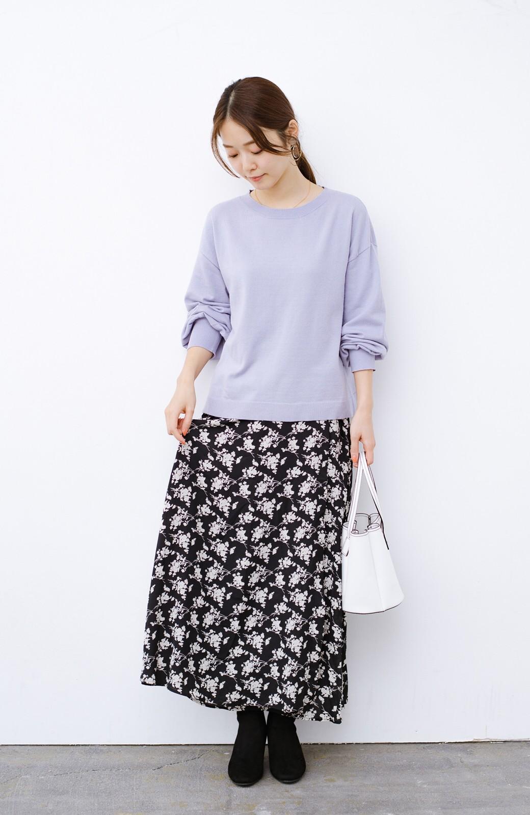 haco! デニムにもスカートにも似合う!すぽっと履けてスタイルアップが叶う女っぽフェイクスエードブーツ <ブラック>の商品写真14