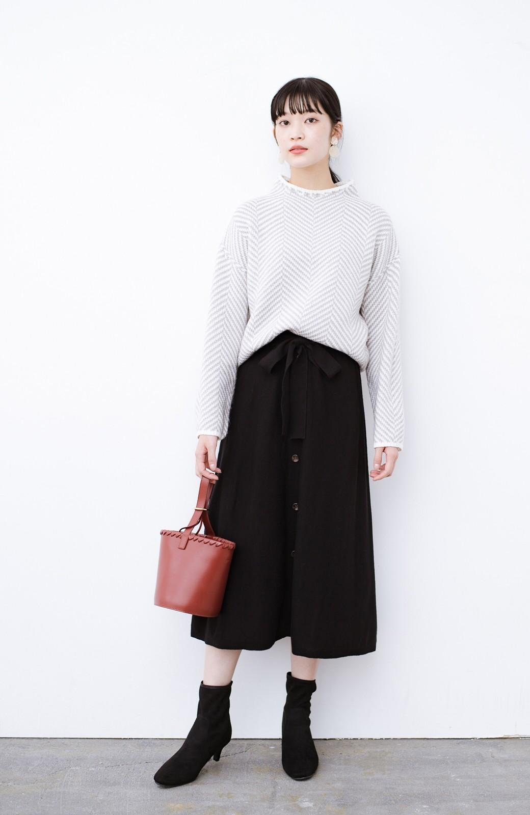 haco! デニムにもスカートにも似合う!すぽっと履けてスタイルアップが叶う女っぽフェイクスエードブーツ <ブラック>の商品写真17