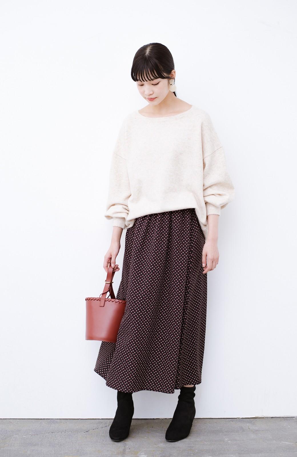 haco! デニムにもスカートにも似合う!すぽっと履けてスタイルアップが叶う女っぽフェイクスエードブーツ <ブラック>の商品写真18