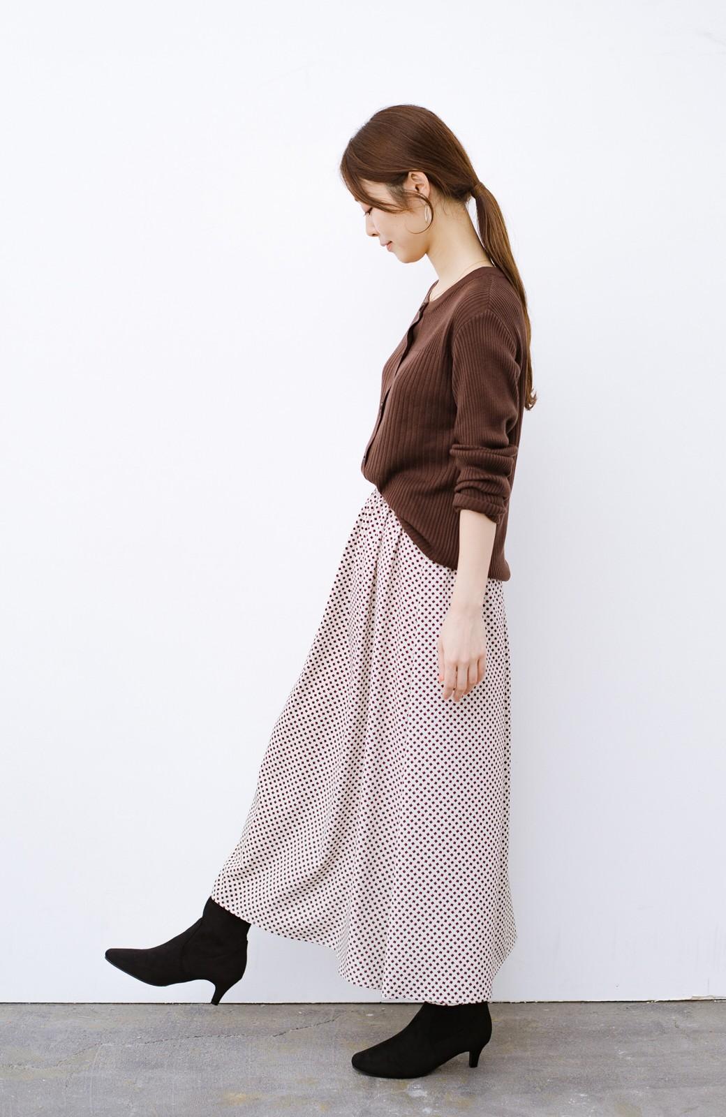 haco! デニムにもスカートにも似合う!すぽっと履けてスタイルアップが叶う女っぽフェイクスエードブーツ <ブラック>の商品写真19
