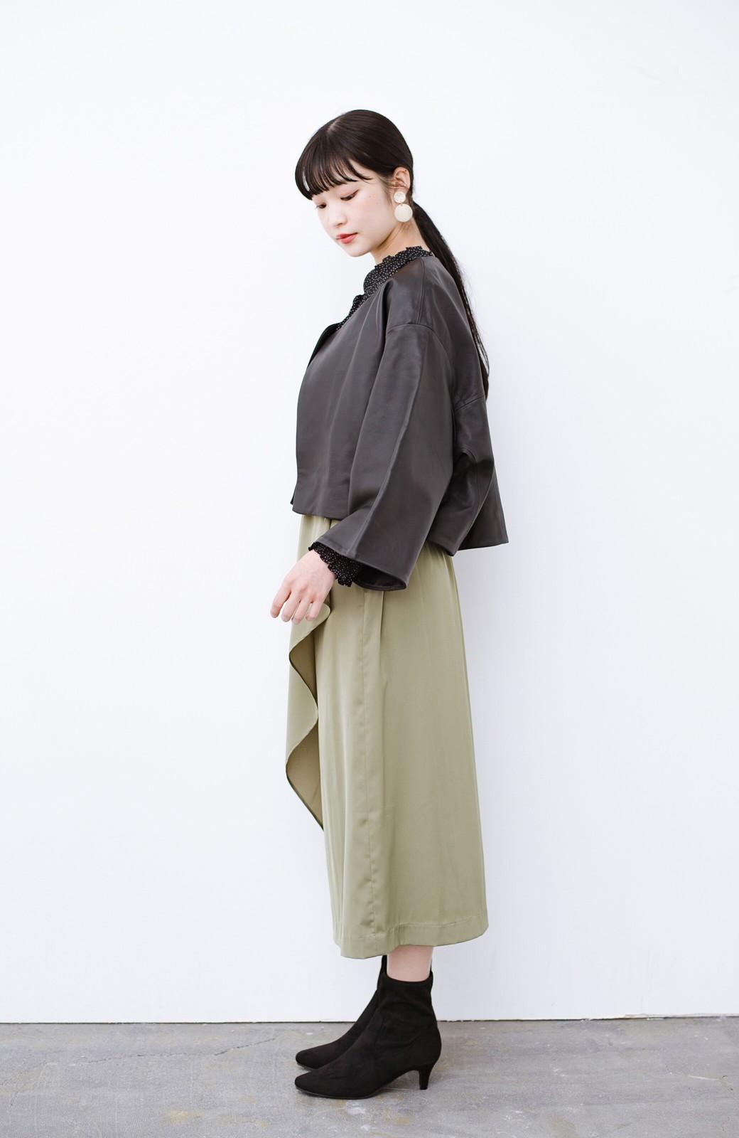 haco! デニムにもスカートにも似合う!すぽっと履けてスタイルアップが叶う女っぽフェイクスエードブーツ <ブラック>の商品写真20