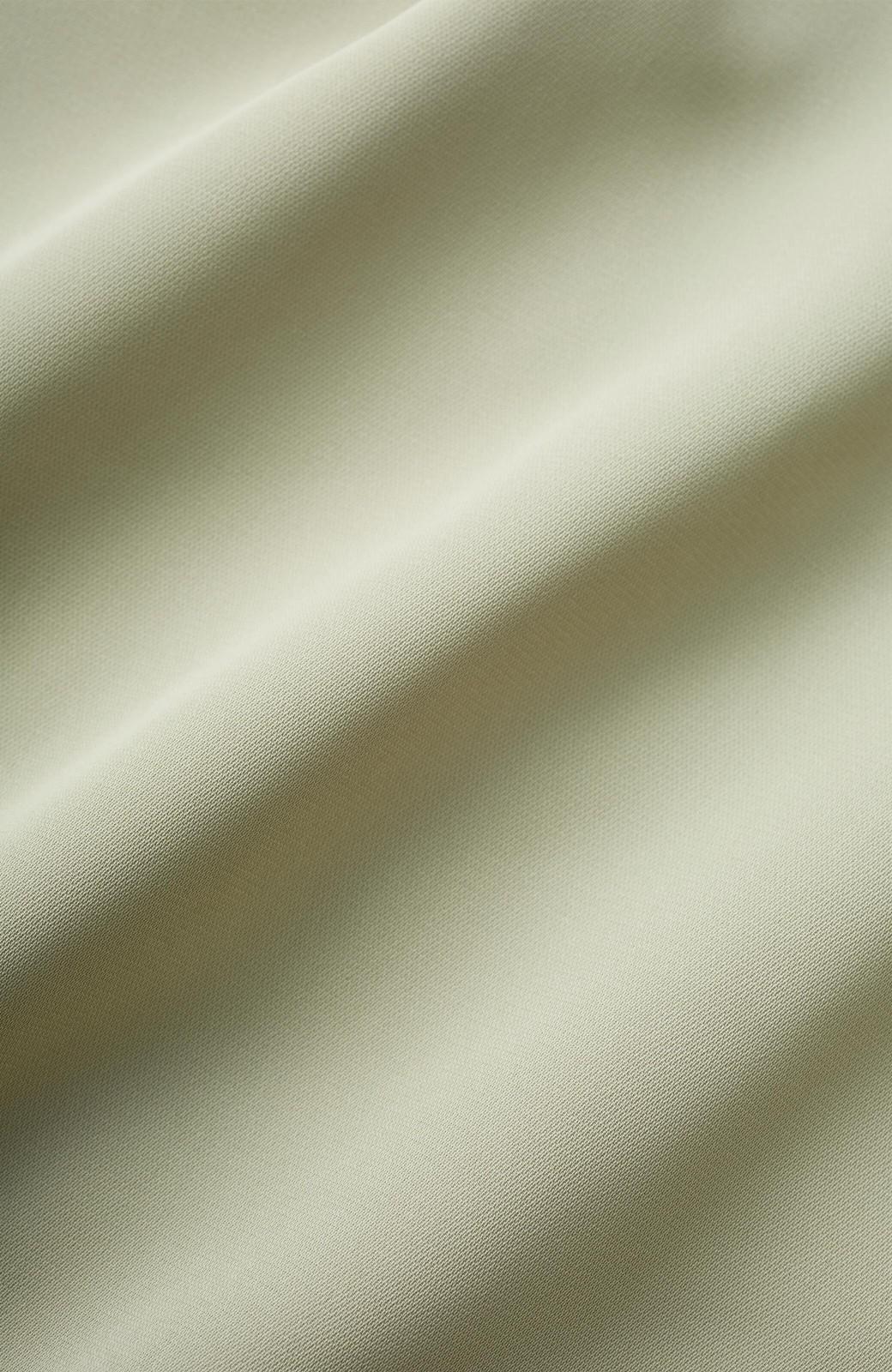 haco! カットソーからニットまで!長く使えてパッと着映えするサイドプリーツジャンパースカート <ライトカーキ>の商品写真3