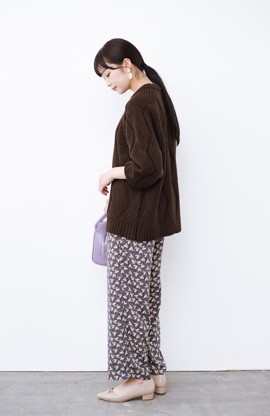 haco! パッと着て、さっと決まる!ざっくり感が今っぽかわいいジグザグ柄ニット <ブラウン>の商品写真12