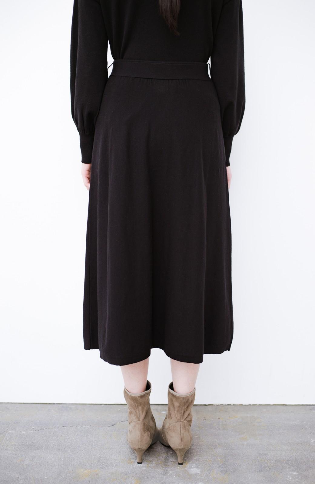haco! デニムにもスカートにも似合う!すぽっと履けてスタイルアップが叶う女っぽフェイクスエードブーツ <ブラウン>の商品写真4