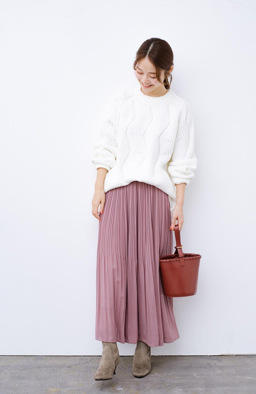 haco! デニムにもスカートにも似合う!すぽっと履けてスタイルアップが叶う女っぽフェイクスエードブーツ <ブラウン>の商品写真10
