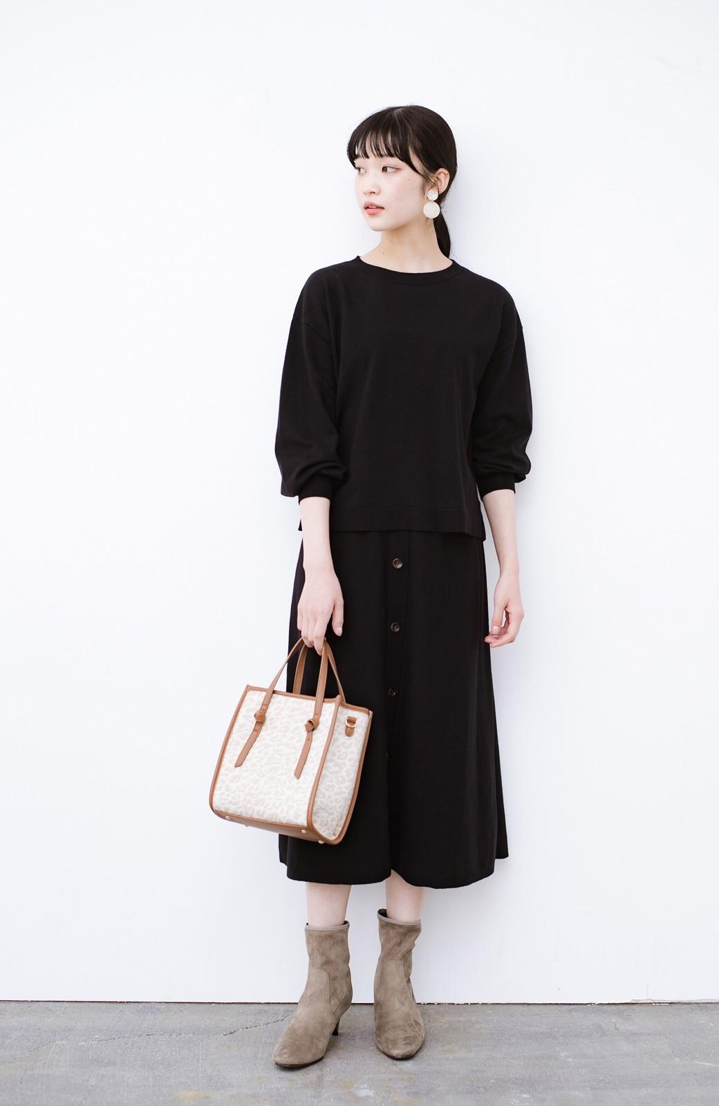haco! デニムにもスカートにも似合う!すぽっと履けてスタイルアップが叶う女っぽフェイクスエードブーツ <ブラウン>の商品写真11