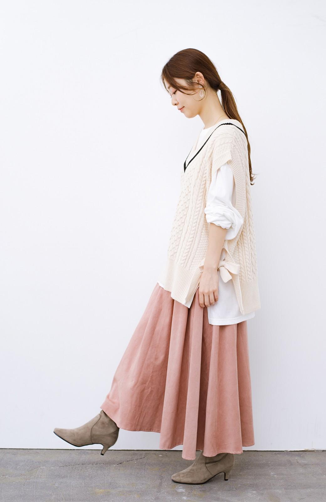 haco! デニムにもスカートにも似合う!すぽっと履けてスタイルアップが叶う女っぽフェイクスエードブーツ <ブラウン>の商品写真12