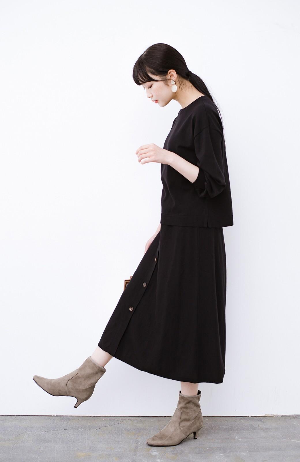haco! デニムにもスカートにも似合う!すぽっと履けてスタイルアップが叶う女っぽフェイクスエードブーツ <ブラウン>の商品写真13