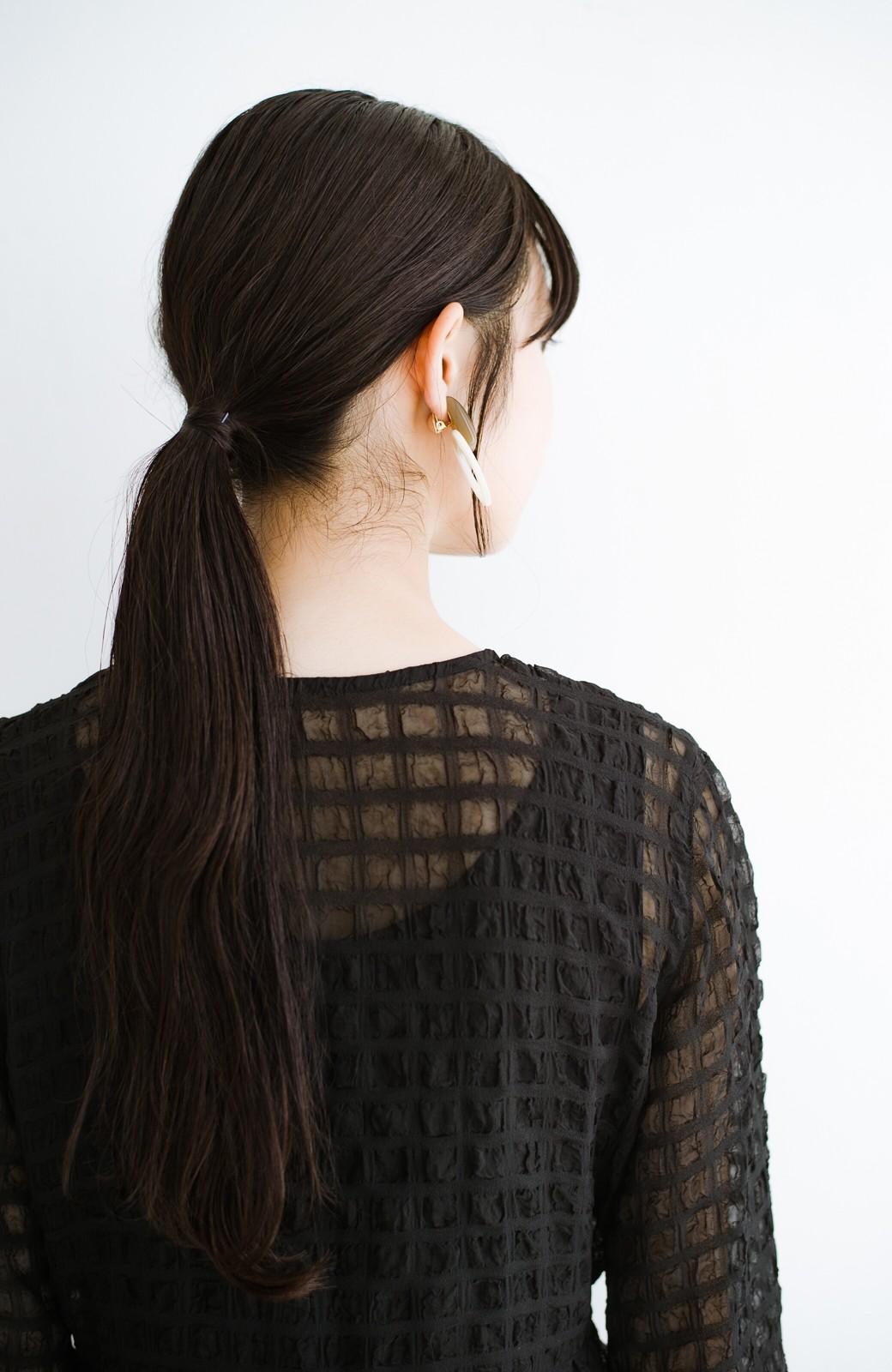 haco! 羽織としても便利!シアー素材で女っぽかわいいカシュクールワンピース&インナーセット <ブラック>の商品写真4