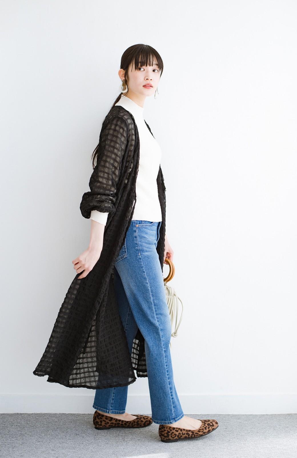 haco! 羽織としても便利!シアー素材で女っぽかわいいカシュクールワンピース&インナーセット <ブラック>の商品写真20