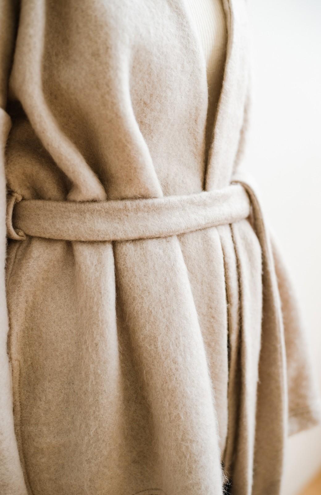 haco!  ぱっと羽織って今っぽい! ふわっと素材が気持ちいい軽やかコート <ベージュ>の商品写真8