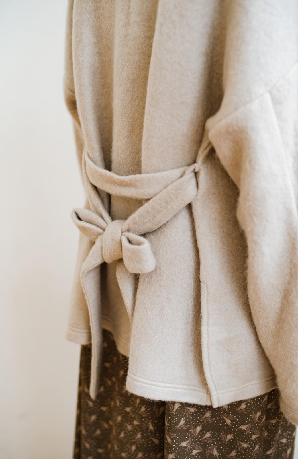 haco!  ぱっと羽織って今っぽい! ふわっと素材が気持ちいい軽やかコート <ベージュ>の商品写真15