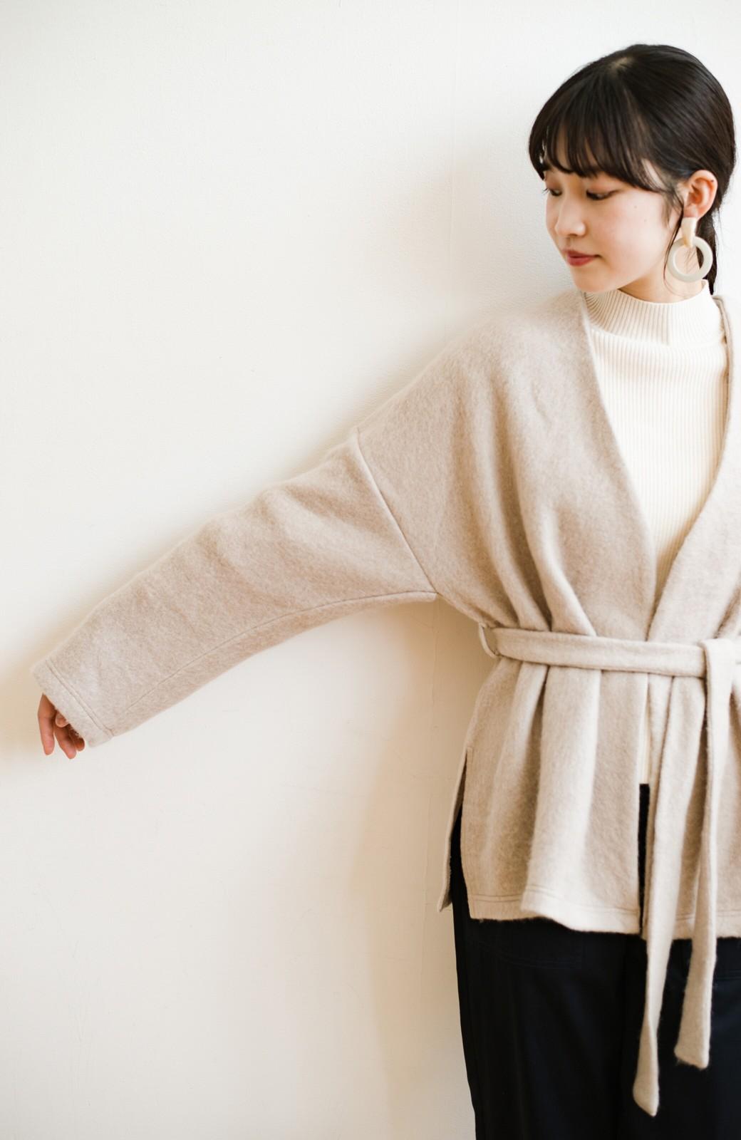 haco!  ぱっと羽織って今っぽい! ふわっと素材が気持ちいい軽やかコート <ベージュ>の商品写真7