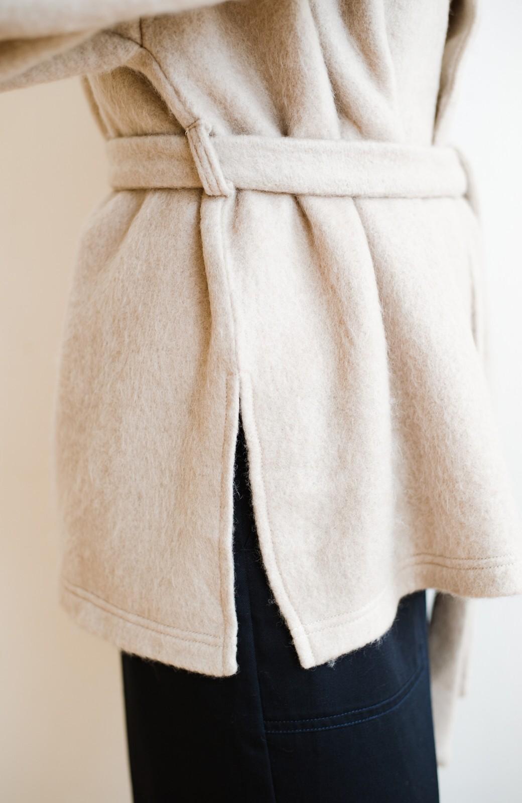 haco!  ぱっと羽織って今っぽい! ふわっと素材が気持ちいい軽やかコート <ベージュ>の商品写真12