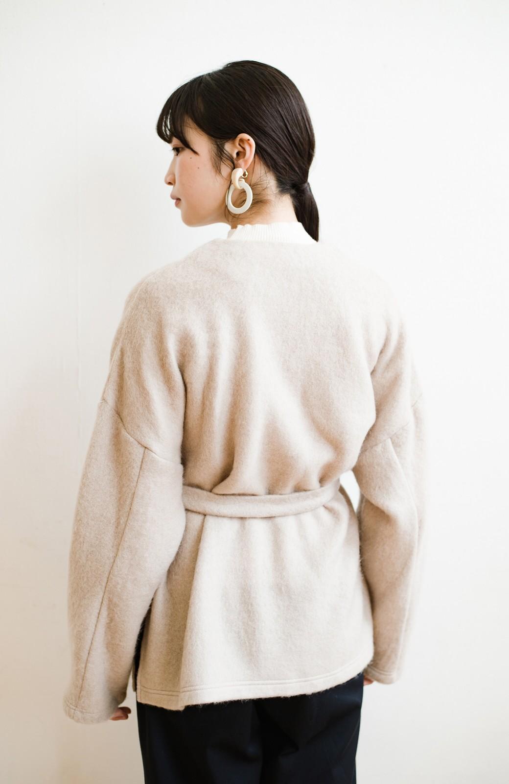 haco!  ぱっと羽織って今っぽい! ふわっと素材が気持ちいい軽やかコート <ベージュ>の商品写真13