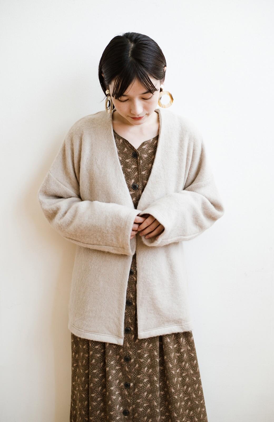 haco!  ぱっと羽織って今っぽい! ふわっと素材が気持ちいい軽やかコート <ベージュ>の商品写真14