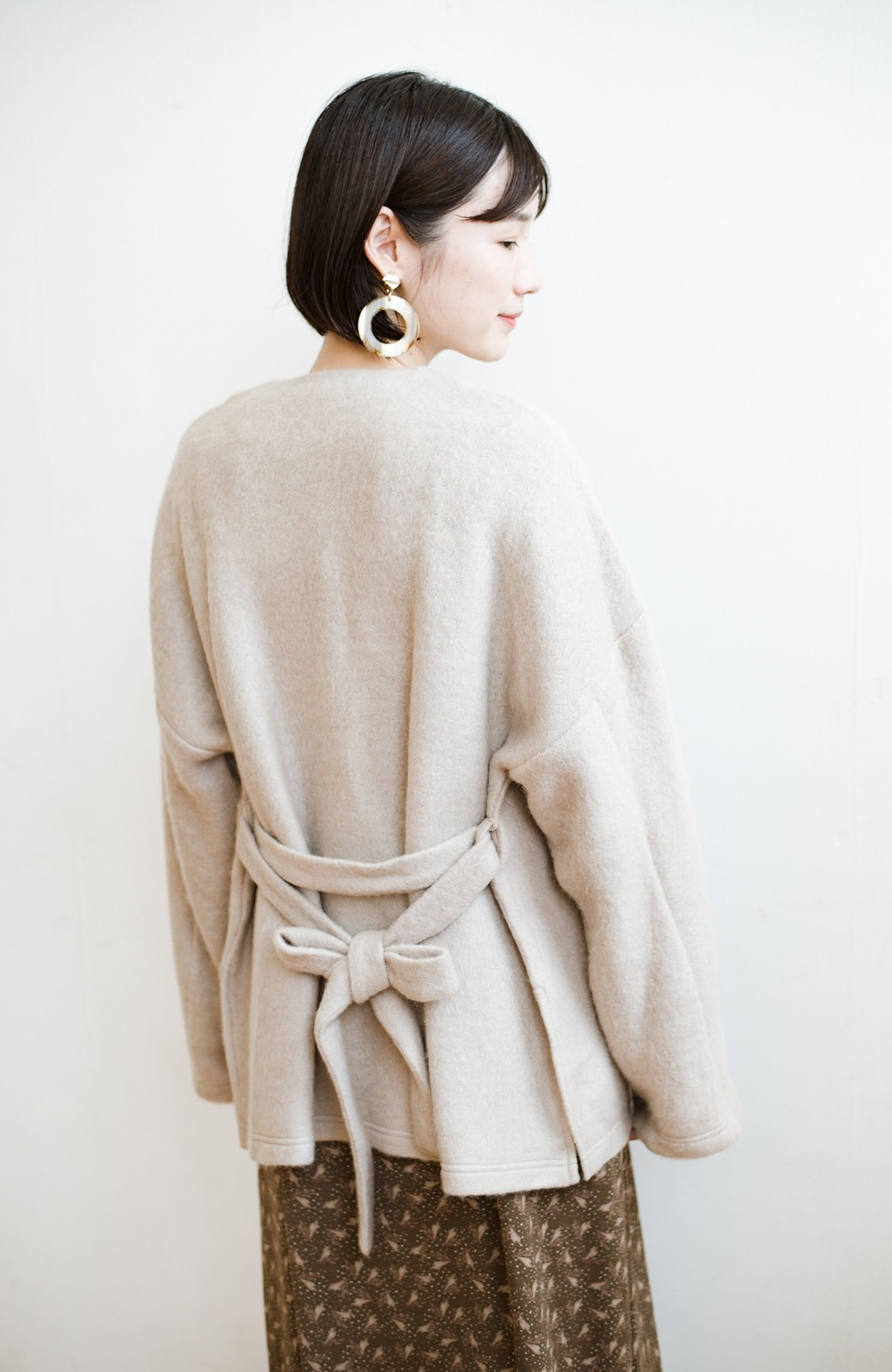 haco!  ぱっと羽織って今っぽい! ふわっと素材が気持ちいい軽やかコート <ベージュ>の商品写真10