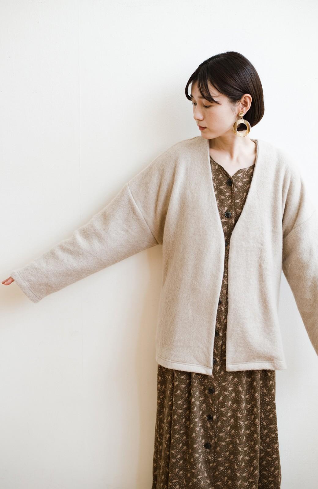 haco!  ぱっと羽織って今っぽい! ふわっと素材が気持ちいい軽やかコート <ベージュ>の商品写真30