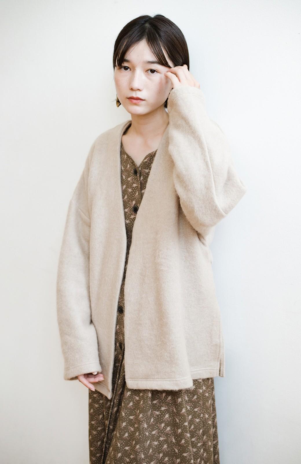 haco!  ぱっと羽織って今っぽい! ふわっと素材が気持ちいい軽やかコート <ベージュ>の商品写真31