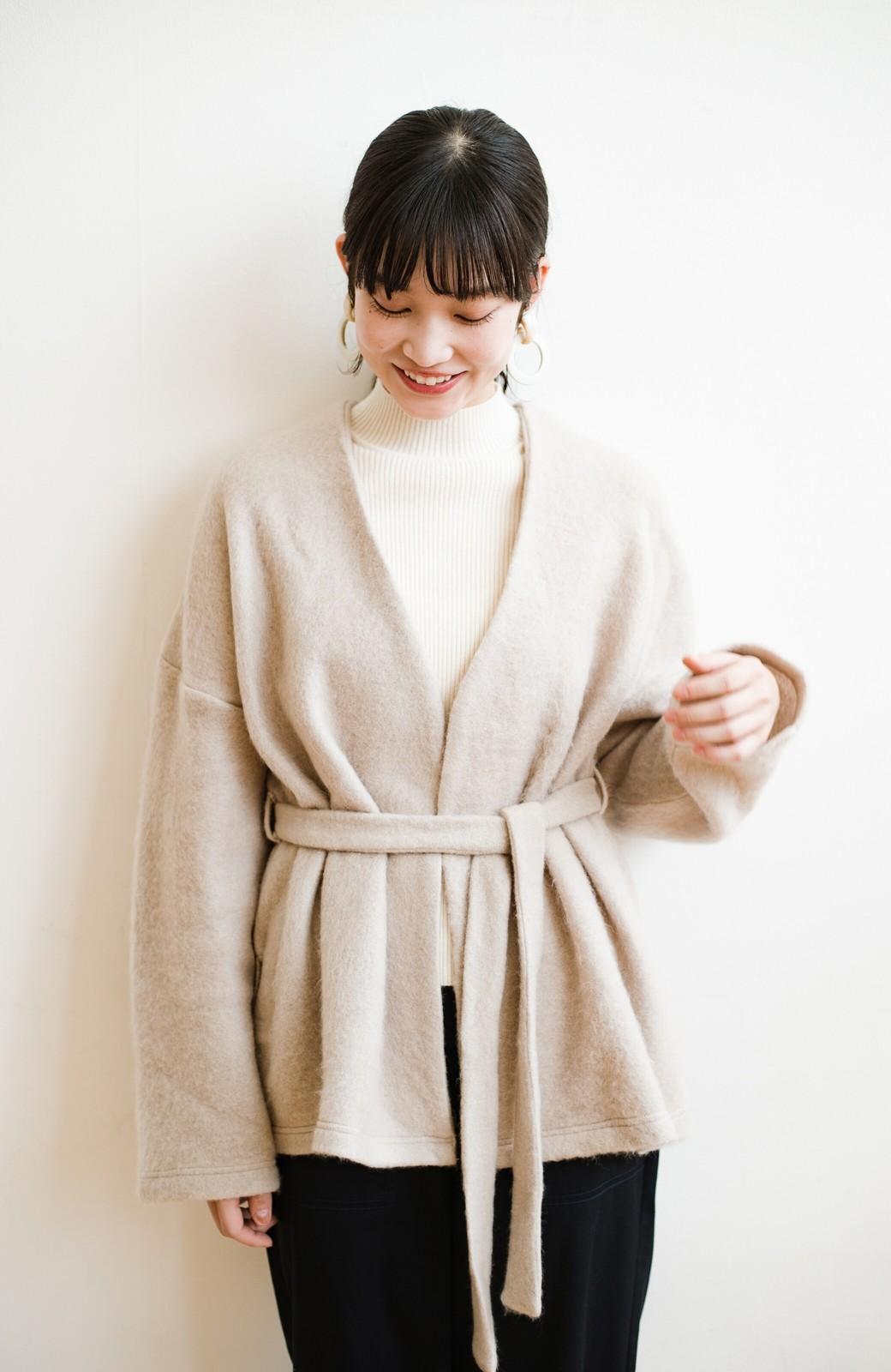 haco!  ぱっと羽織って今っぽい! ふわっと素材が気持ちいい軽やかコート <ベージュ>の商品写真25