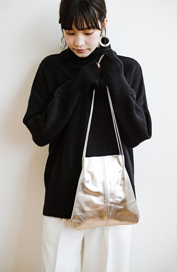 haco! odds 気軽に使えるのに綺麗見えインナーバッグ付きミニトートバッグ <シルバー>の商品写真