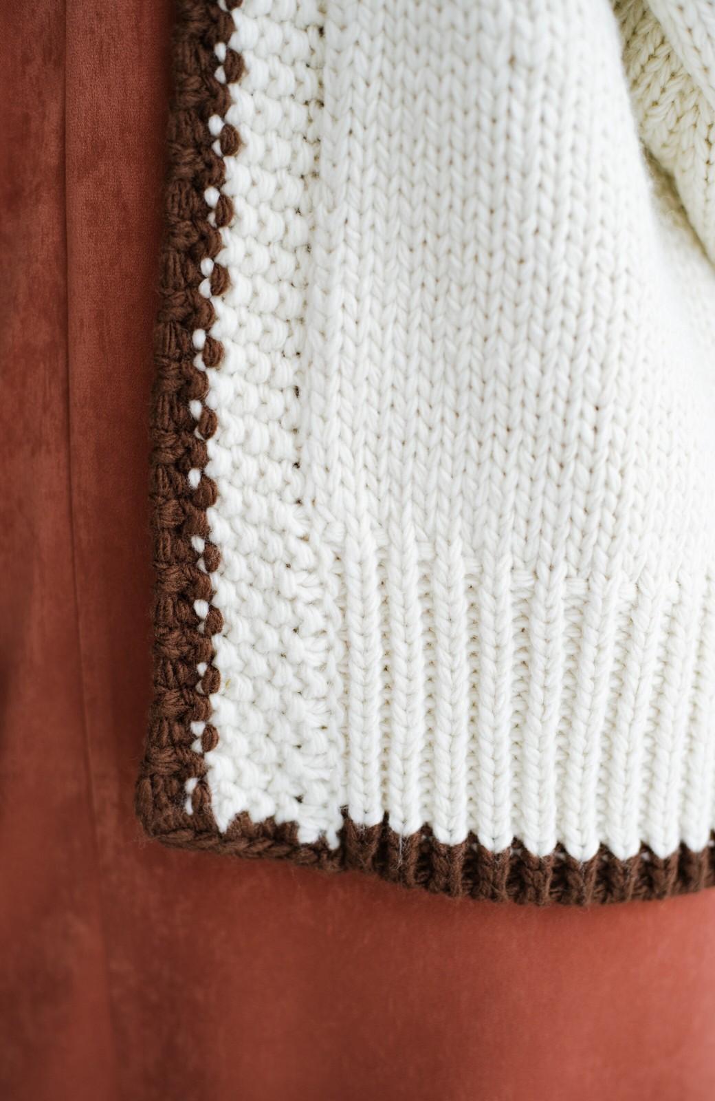 haco! ゆるりと羽織ってあったかかわいいノルディックニットカーディガン <アイボリー>の商品写真11