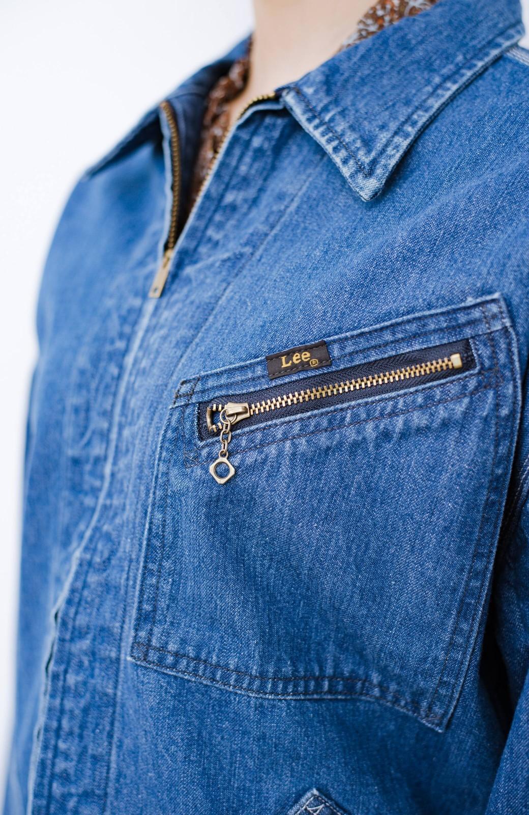 haco! Lady Lee ゆるっとシルエットが可愛いデニムジャケット <ブルー>の商品写真4