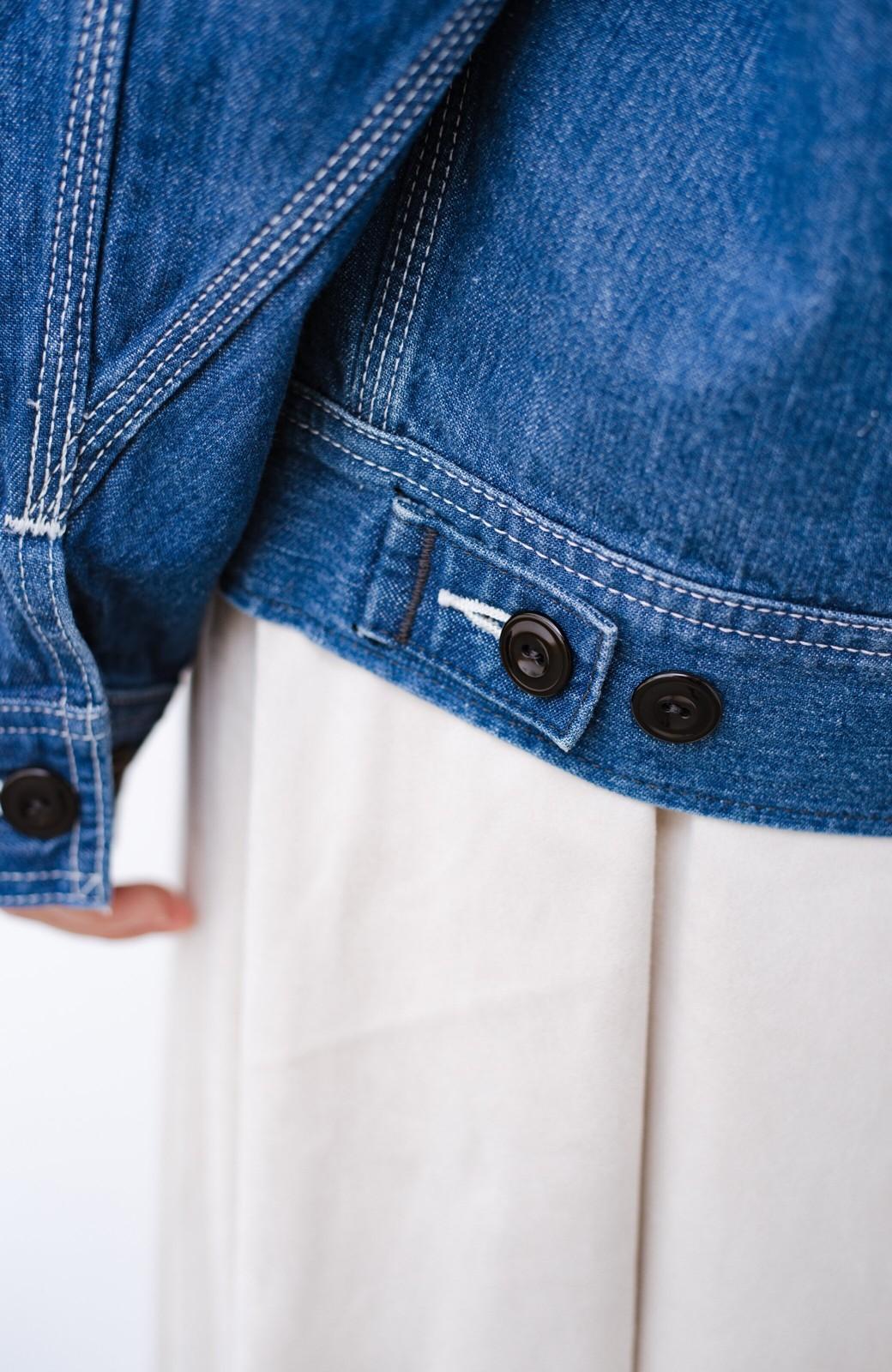 haco! Lady Lee ゆるっとシルエットが可愛いデニムジャケット <ブルー>の商品写真6