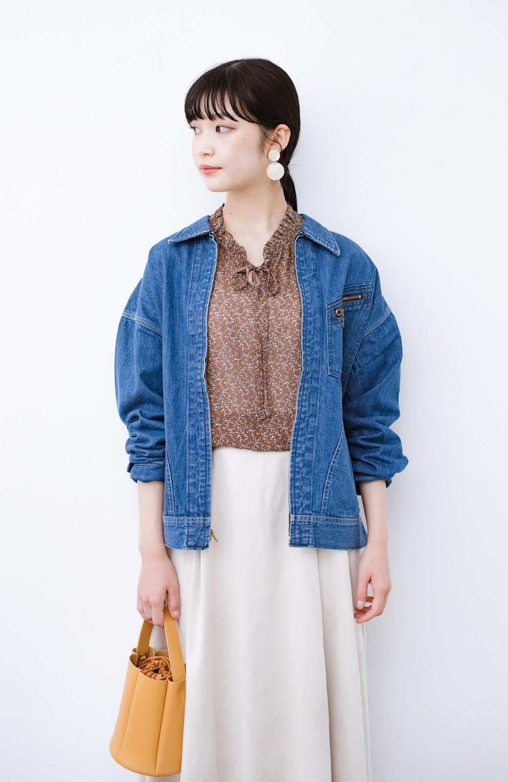 haco! Lady Lee ゆるっとシルエットが可愛いデニムジャケット <ブルー>の商品写真2