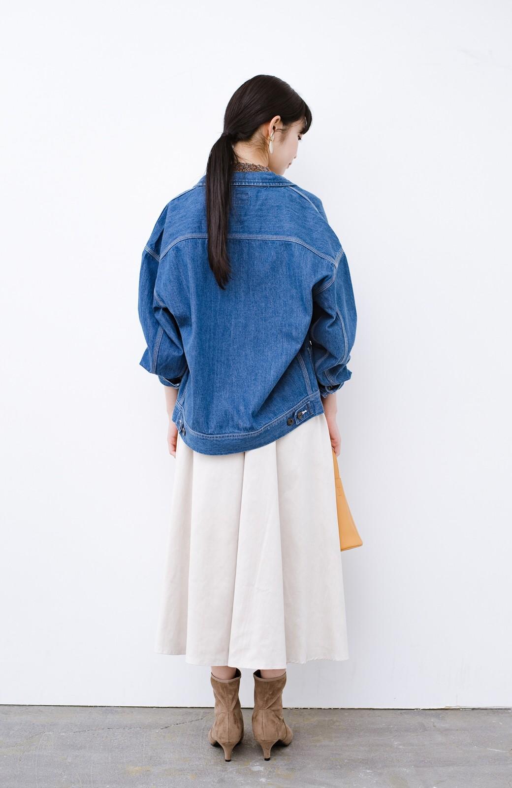 haco! Lady Lee ゆるっとシルエットが可愛いデニムジャケット <ブルー>の商品写真10