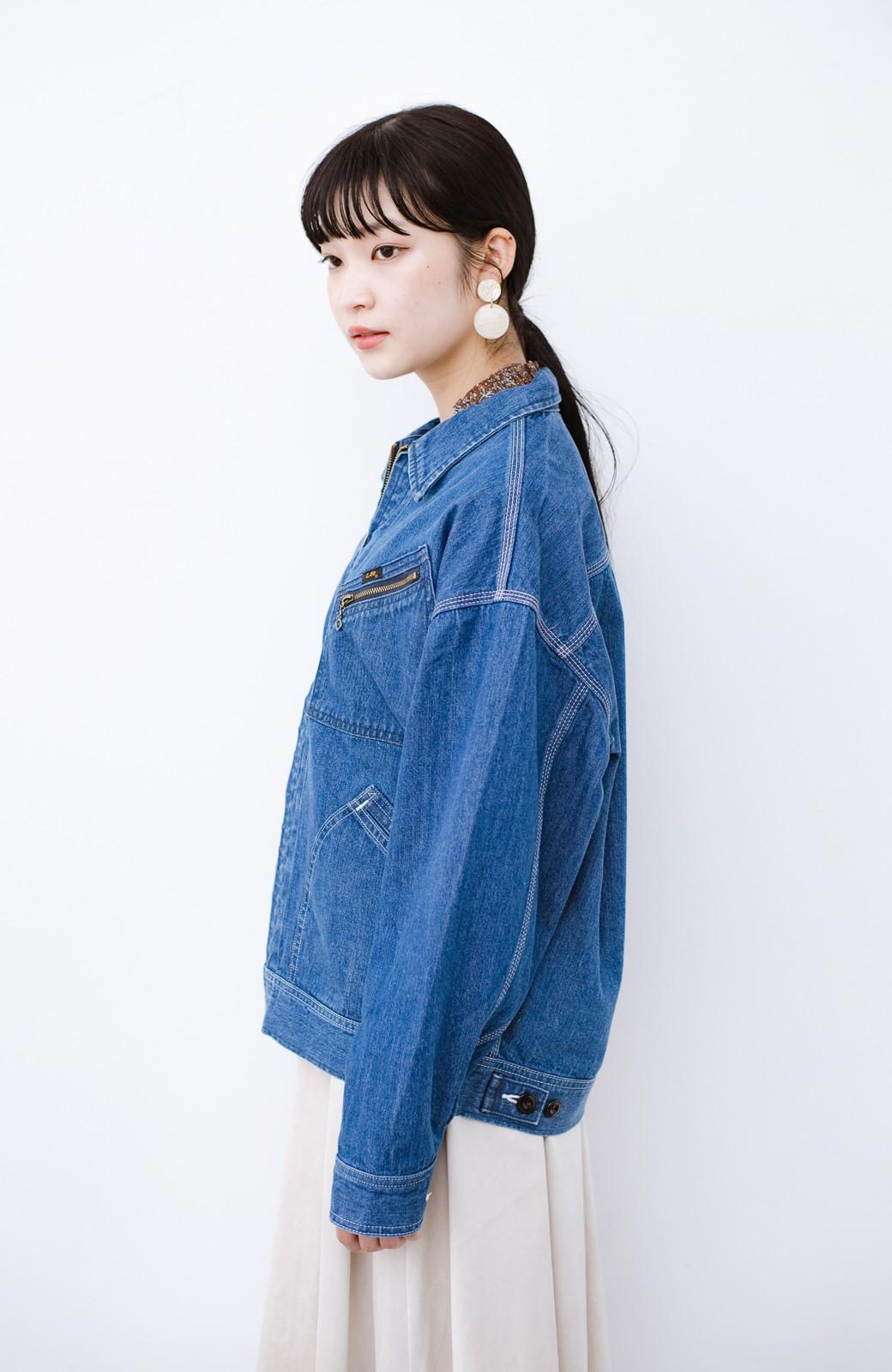 haco! Lady Lee ゆるっとシルエットが可愛いデニムジャケット <ブルー>の商品写真13
