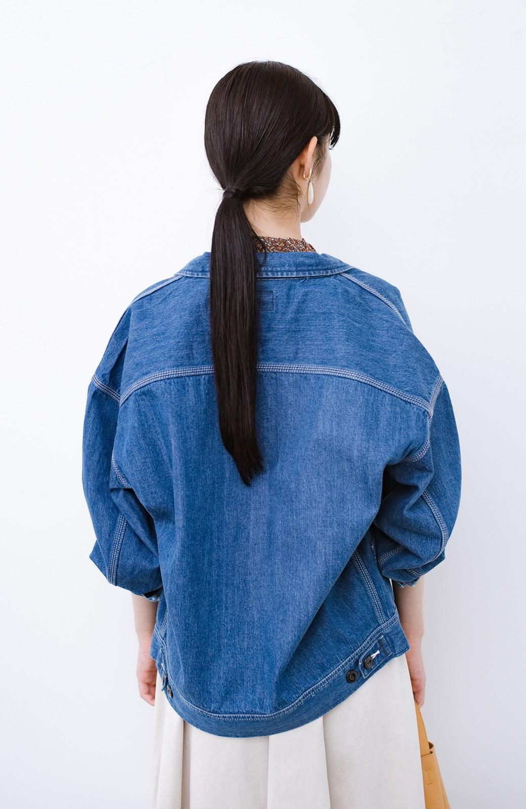 haco! Lady Lee ゆるっとシルエットが可愛いデニムジャケット <ブルー>の商品写真15