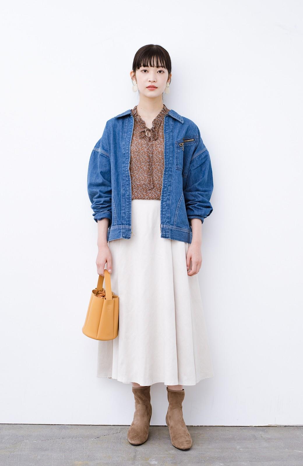 haco! Lady Lee ゆるっとシルエットが可愛いデニムジャケット <ブルー>の商品写真7
