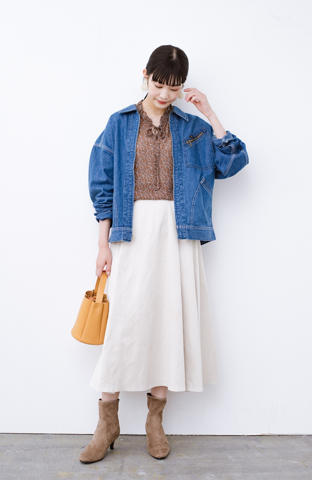 haco! Lady Lee ゆるっとシルエットが可愛いデニムジャケット <ブルー>の商品写真8
