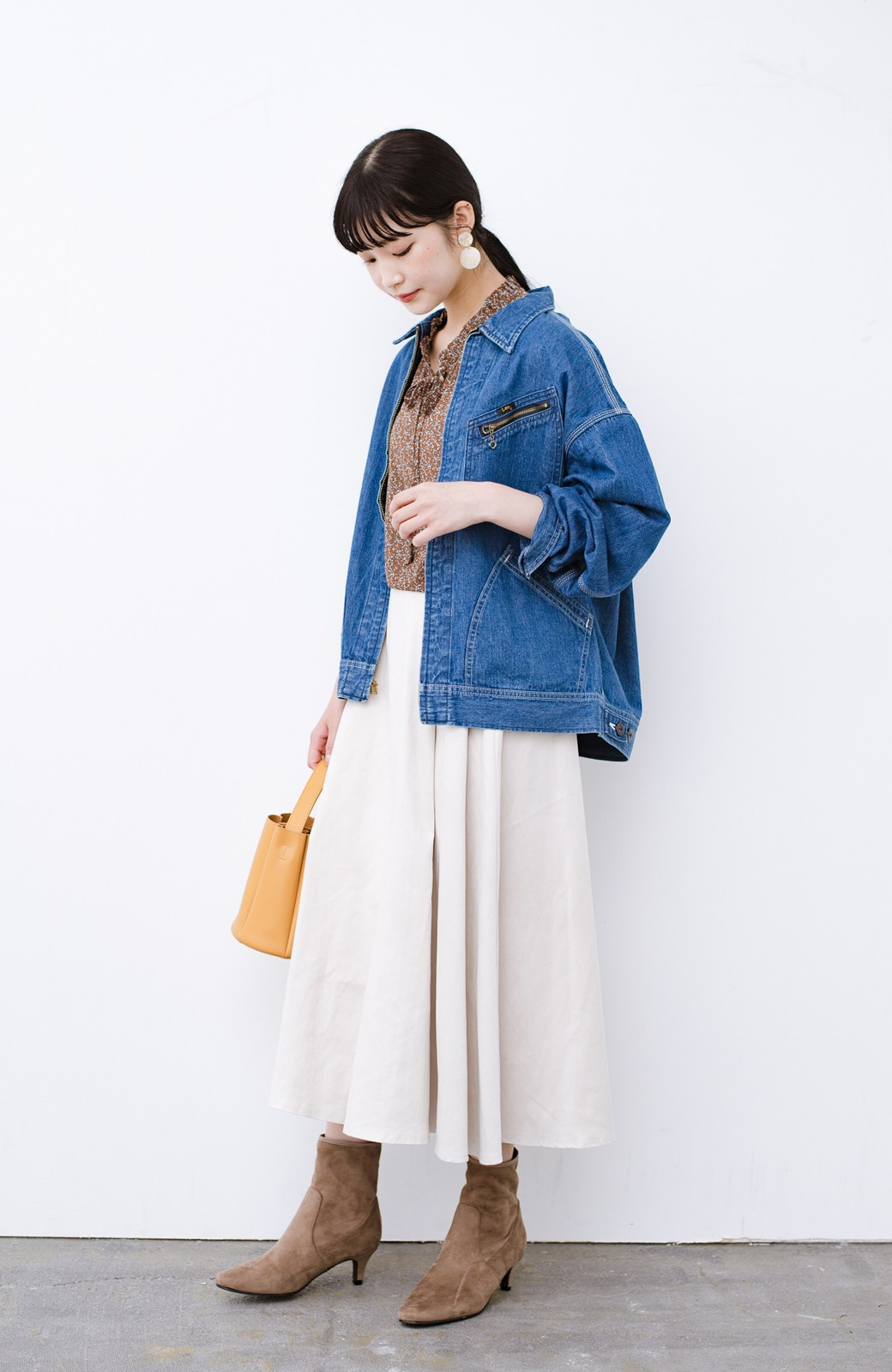 haco! Lady Lee ゆるっとシルエットが可愛いデニムジャケット <ブルー>の商品写真9