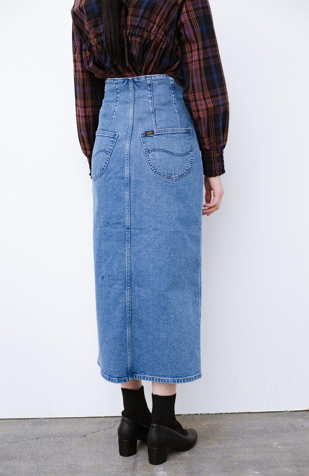haco! Lady Lee  フロントボタンがポイントの華奢見せデニムスカート <ライトブルー>の商品写真5