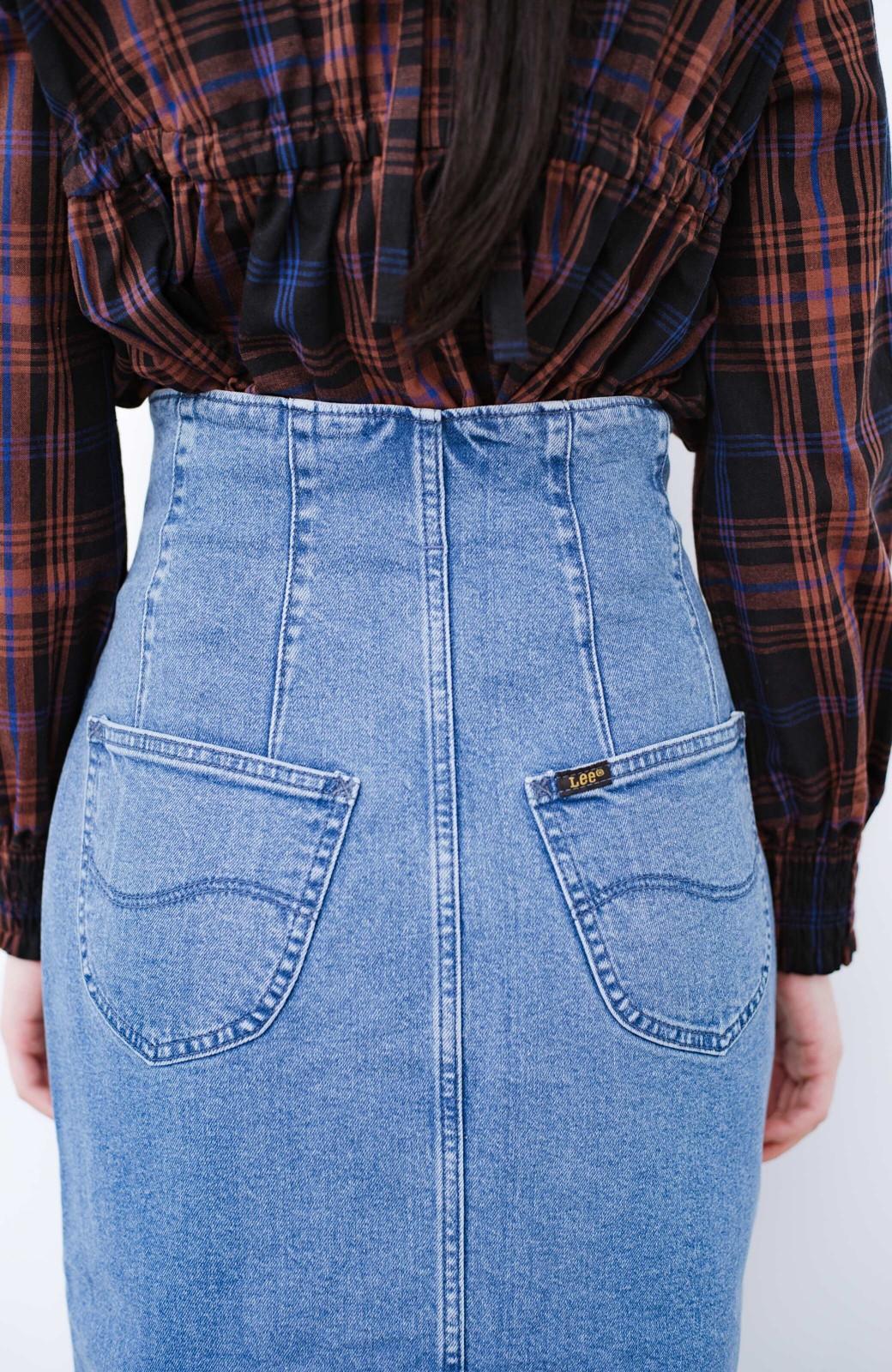 haco! Lady Lee  フロントボタンがポイントの華奢見せデニムスカート <ライトブルー>の商品写真7
