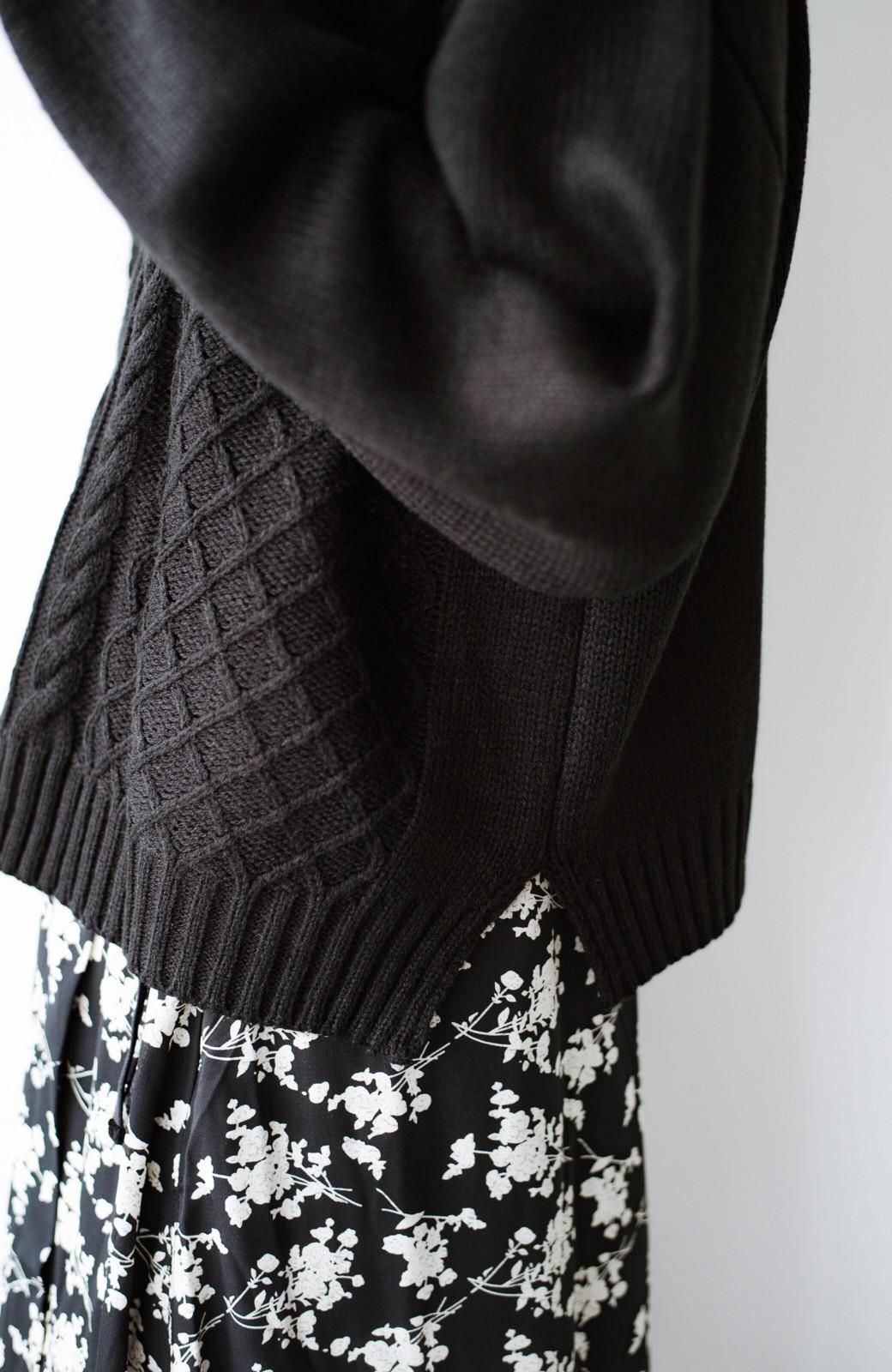 haco! 寝坊した朝でも挽回できる パッと着てかわいい便利なニットアップ <ブラック>の商品写真25