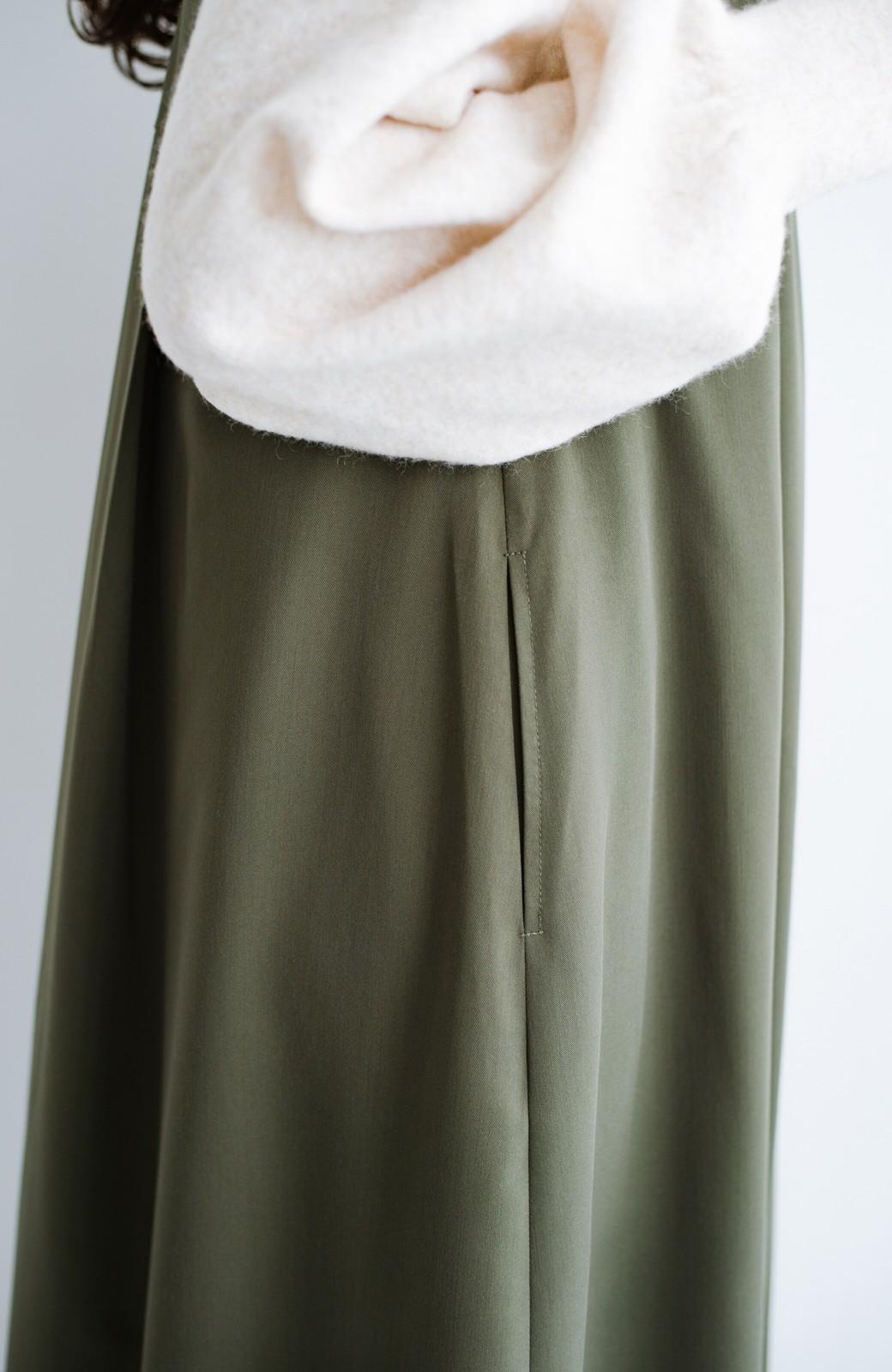 haco! 長め丈登場!Tシャツにもニットにもずーーーっと着られて便利なジャンパースカート <カーキ>の商品写真6