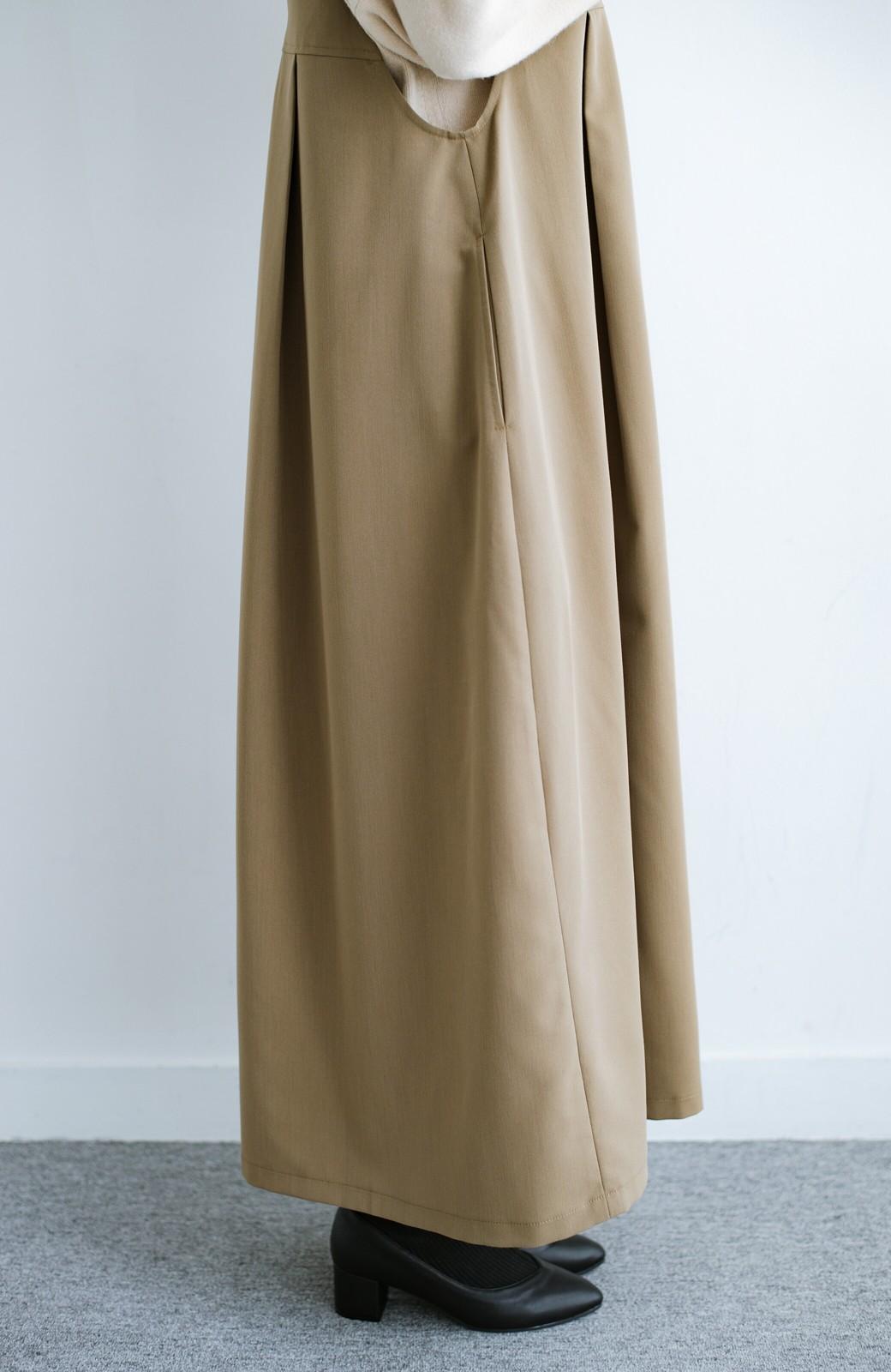 haco! 長め丈登場!Tシャツにもニットにもずーーーっと着られて便利なジャンパースカート <ベージュ>の商品写真16