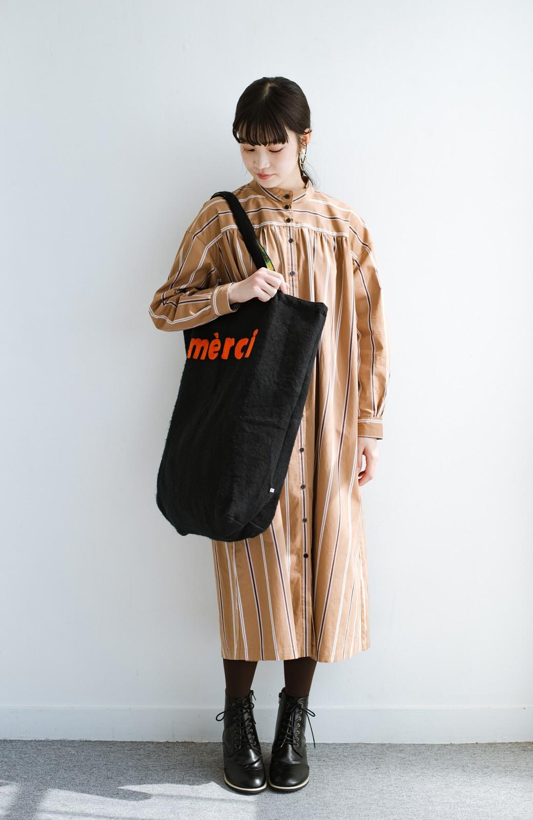 haco! hint hint リバーシブルで使える 古着みたいなこなれ感のビッグサイズバッグ <イエロー>の商品写真6