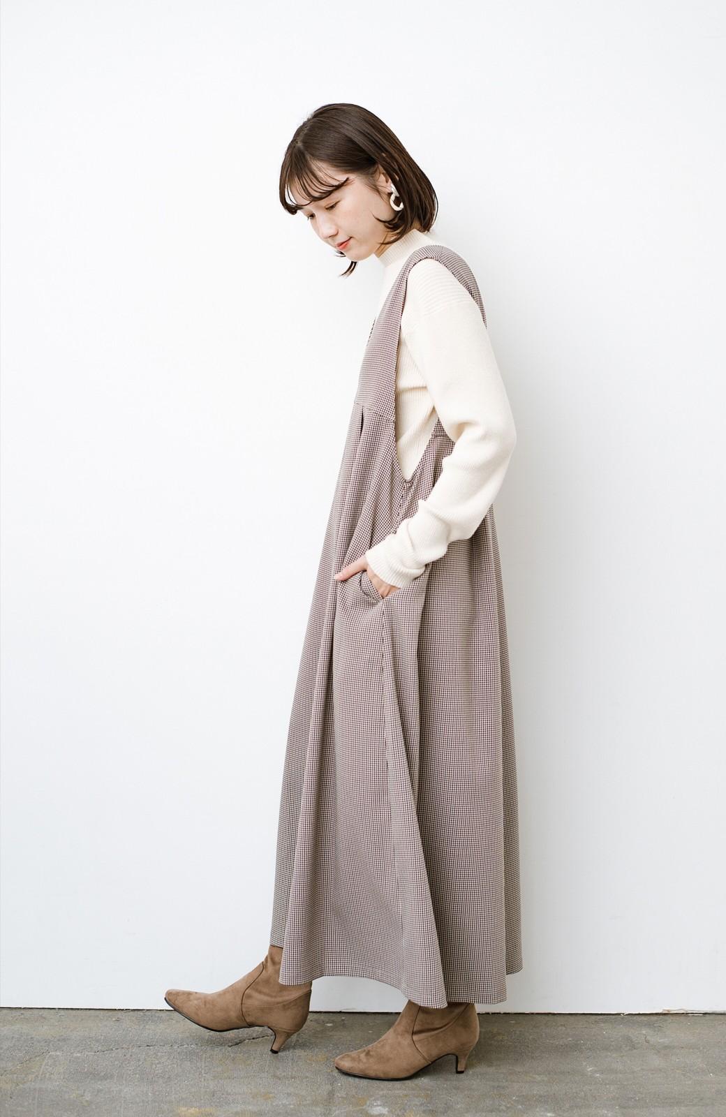 haco! 長め丈登場!Tシャツにもニットにもずーーーっと着られて便利なジャンパースカート <ブラウン系その他>の商品写真12