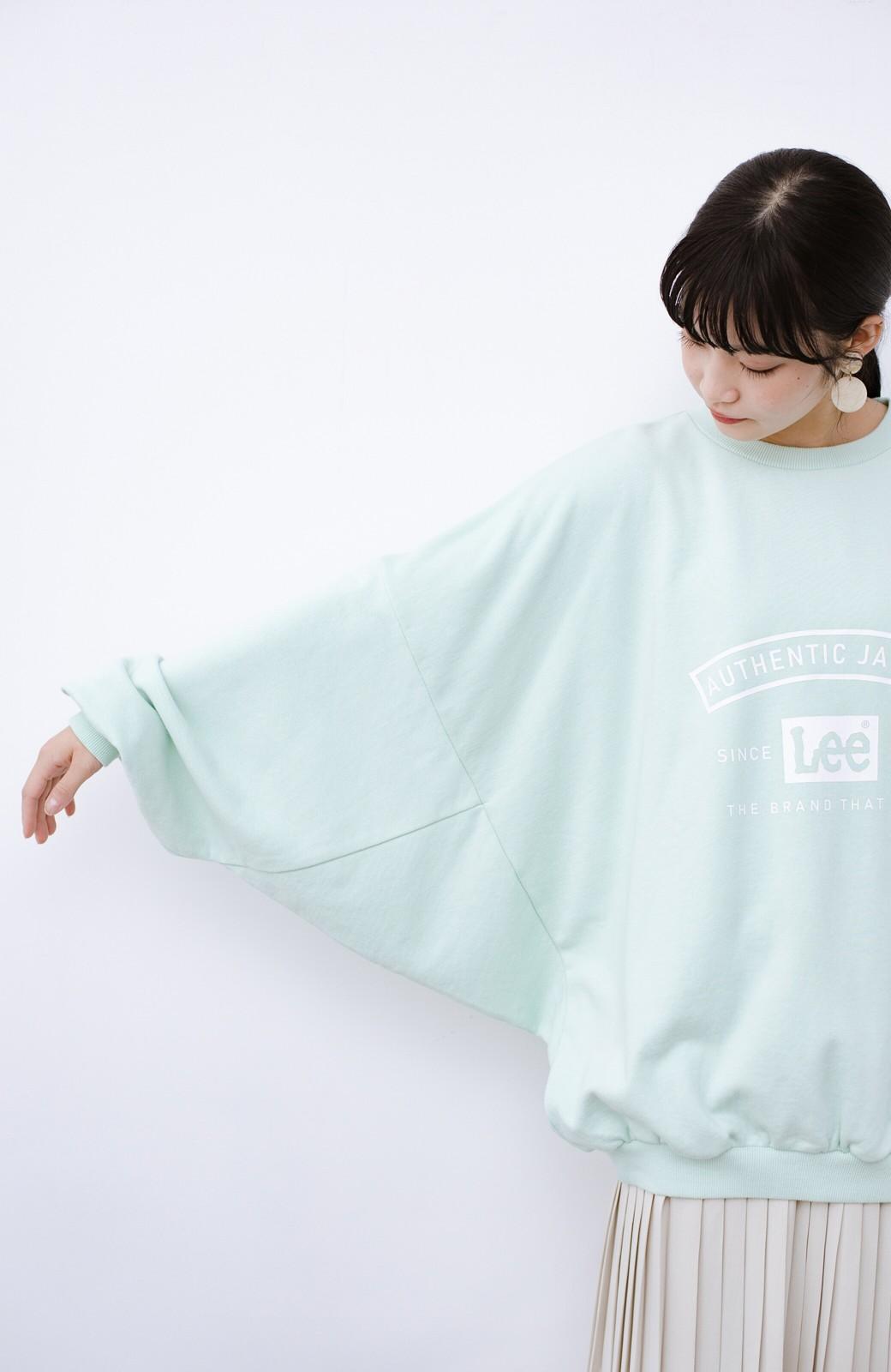 haco! Lady Lee メンズライクなだぼっとサイズ マカロンカラーが可愛いプルオーバー <ミント>の商品写真15